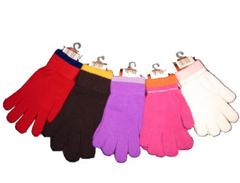 Adult Multi Color Magic Stretch Knit Gloves