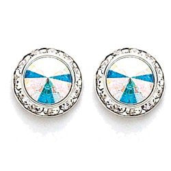 Swarovski Crystal Earrings, 12mm size