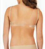 Capezio Underwire Bra with Clear and Stretch Straps
