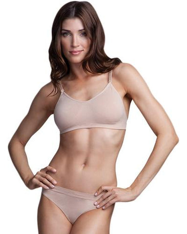 Capezio Seamless Bra with Clear Straps