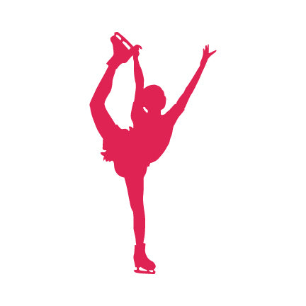 Figure Skater Decal, Catch Foot Spiral