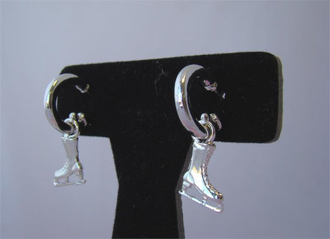 Ice Skate Loop Earrings