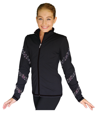 Chloe Noel JS96 Skate Jacket with Spiral Crystals