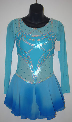 M&M 3001 Blue Sequin Dress