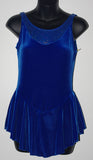 Motionwear 8060 Sleeveless Sparkle Velvet Dress