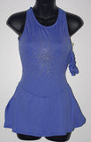 Motionwear 8104, Sleeveless Cotton Lycra Dress with Rhinestones