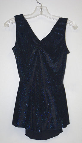 Motionwear 8123, Sleeveless Sparkle Velour Dress
