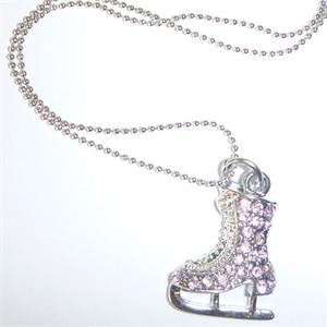 Petite Rhinestone Ice Skate Necklace