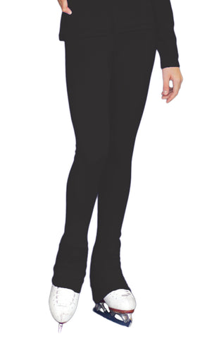 Chloe Noel PS735 Solid Over-the-heel Skate Elite Figure Skating Pants with Front Pocket