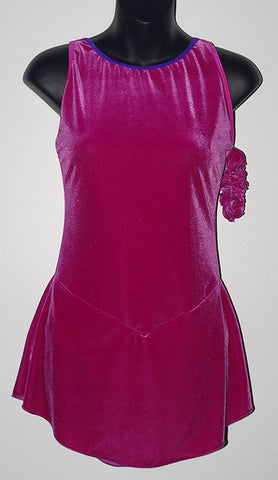 Six0 915 Fuchsia Velvet Dress