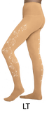 Chloe Noel 8830 Footed Tights with Crystals