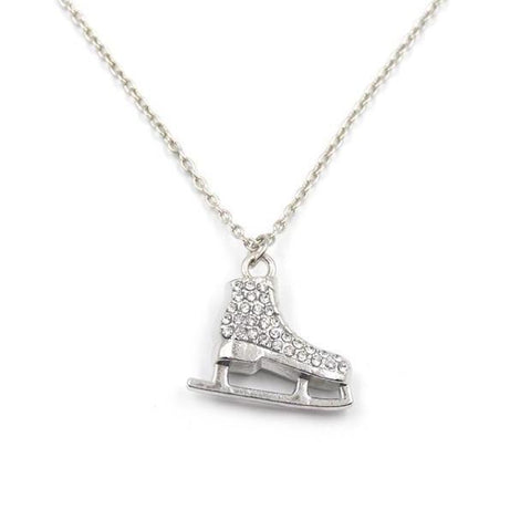Ice Skate Rhinestone Necklace