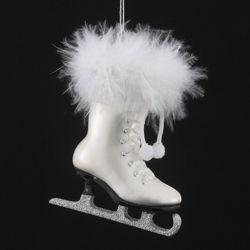 Glass Ice Skate Ornament