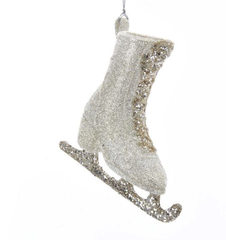 Glitter Ice Skate Ornament