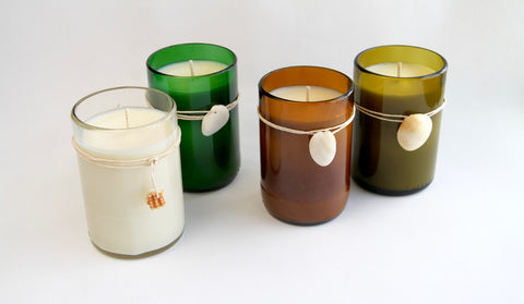 Orla wine bottle candles