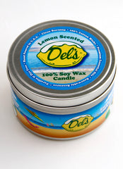 Del's tin Orla Soy Candle
