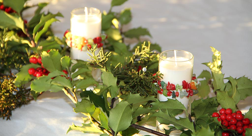 Orla Soy Candle Holiday Candle Table Decor