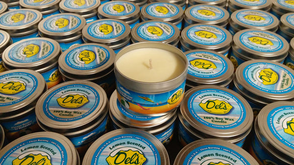 Del's Lemonade Candle 8 oz. Tin