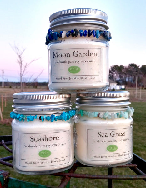 Mason Jar Natural Soy Wax 10 oz. Candle with Bracelet