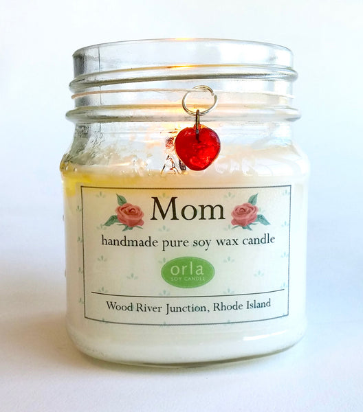 Mother's Day Mom Natural Soy Wax Candle 10 oz.
