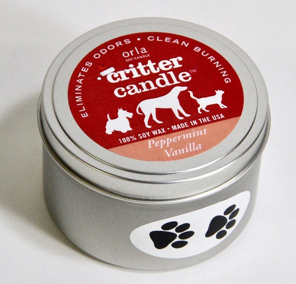 Critter Candles Natural Soy Wax 8 oz. Tin 16 Scent Choices