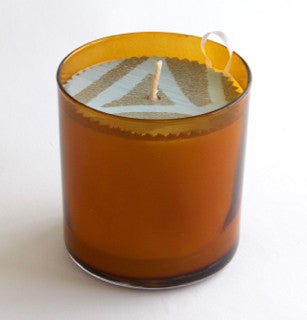 Scented Natural Soy Candle 11 oz. Amber Glass Tumbler Eco Friendly
