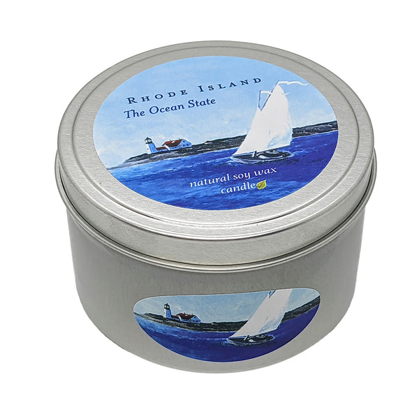 Rhode Island 'The Ocean State' Soy Candle 8 oz. Tin
