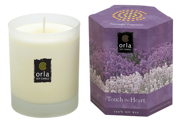 Touch the Heart, Lavender Natural Soy Candle 7.5 oz. Boxed