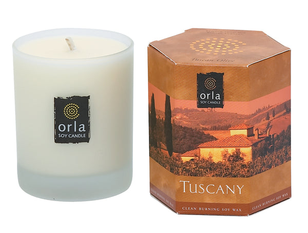 Tuscany, Tuscan Olive Natural Soy Candle 7.5 oz. Boxed