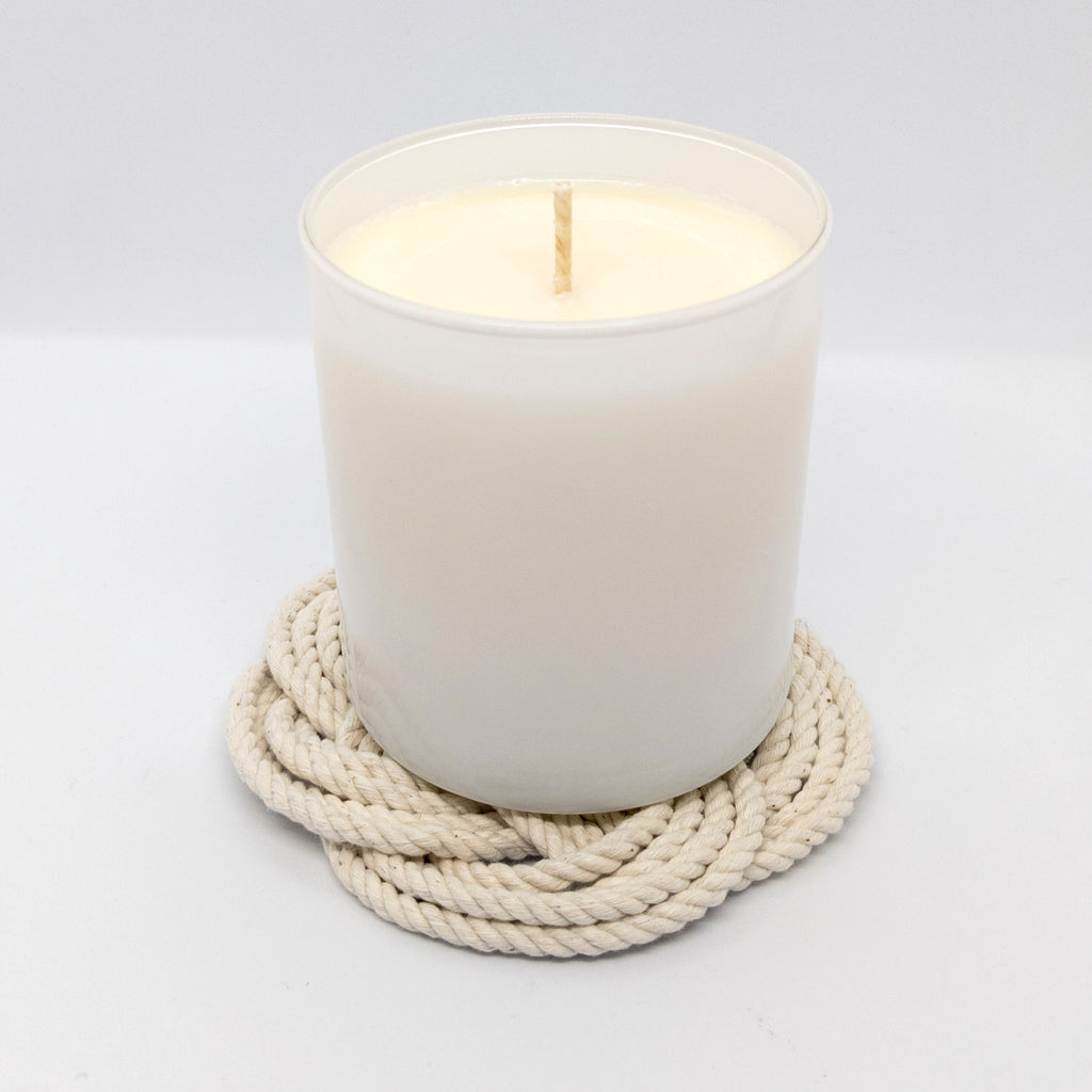11 oz. Scented Natural Soy Wax Candle White Glass Tumbler