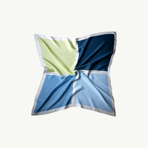 Les Belles Heures Arcipelago 12h13 100% hand rolled cashmere, modal and silk scarf