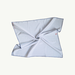 Issimo x Les Belles Heures Il Pellicano, 10h22 100% hand rolled cotton and silk scarf
