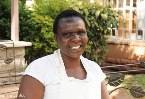 Dorothy a chef at the amani kenya cafe