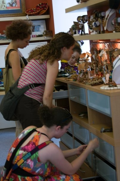 Customers in the shop (photo by Lou Ann Aepelbacher)