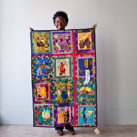 Amani Unity Quilt. Reconciliation, African, hand made, peace, beautiful.