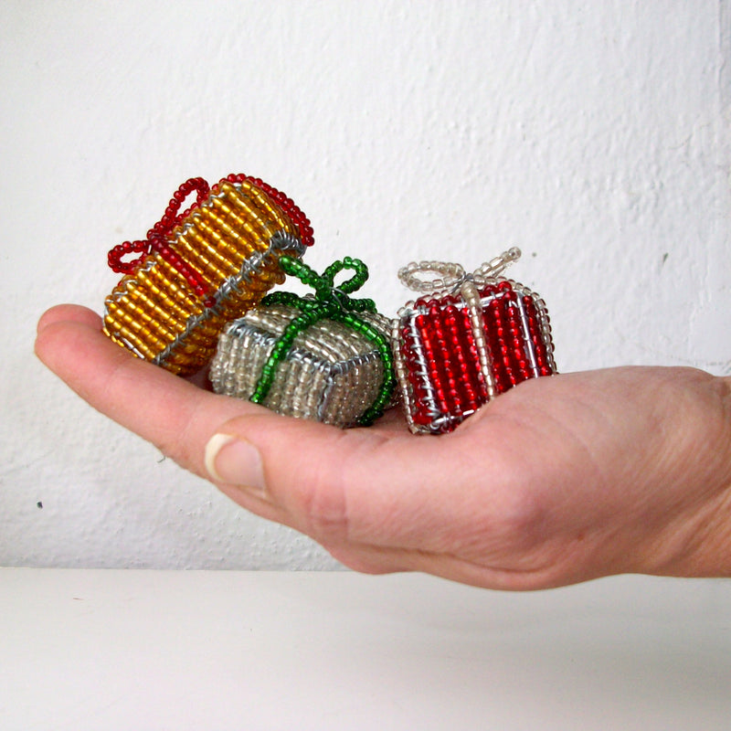 Beaded Christmas Tree & Gifts - Kenyan materials and design for a fair trade boutique