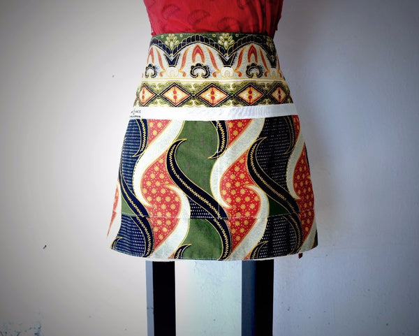 Kitenge Half Apron - Kenyan materials and design for a fair trade boutique