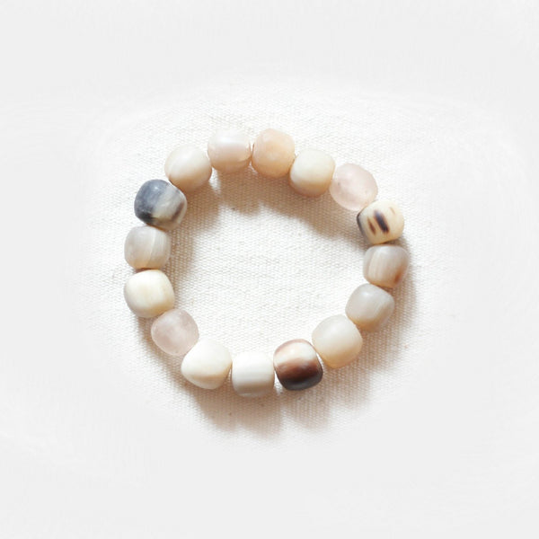 Horn & Bottle Bead Bracelet - Kenyan materials and design for a fair trade boutique