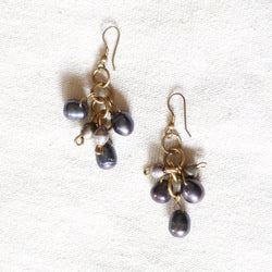 Mother's Pearl Earrings - Kenyan materials and design for a fair trade boutique