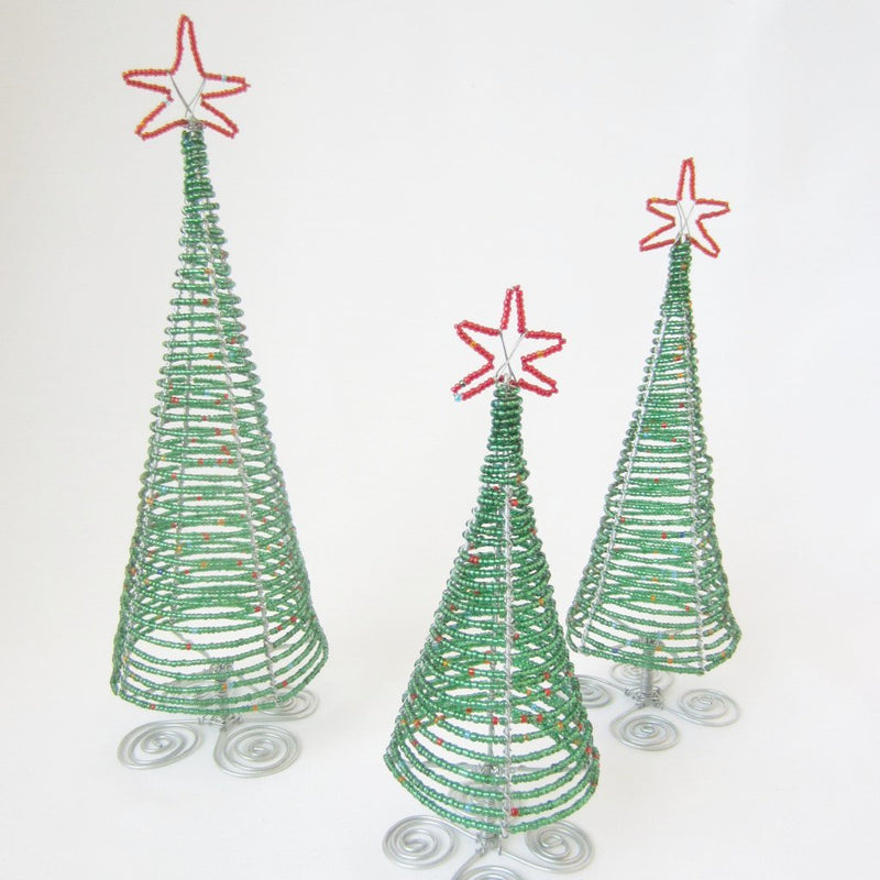 Beaded Christmas Tree - Kenyan materials and design for a fair trade boutique