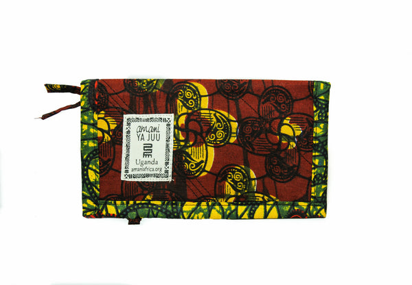 Kitenge Folding Wallet - Kenyan materials and design for a fair trade boutique