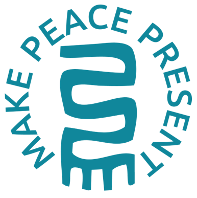 "Amani ""Make Peace Present"" Decals - Kenyan materials and design for a fair trade boutique"