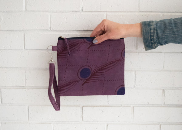 Kanga Wristlet - Kenyan materials and design for a fair trade boutique