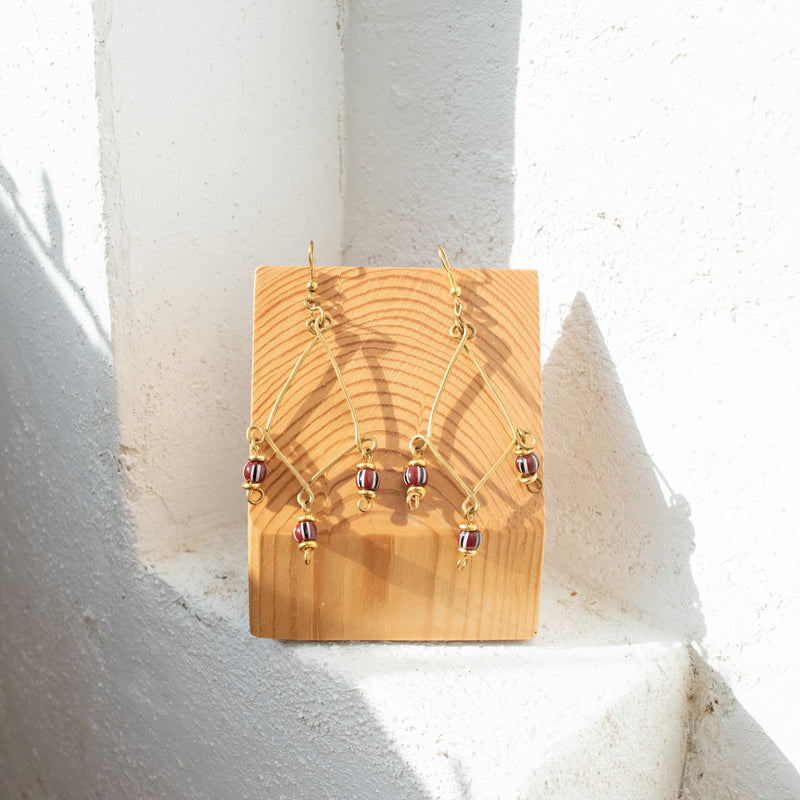Wire Chandelier Earrings - Kenyan materials and design for a fair trade boutique