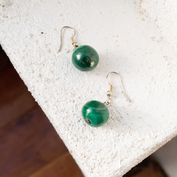 Malachite Earrings - Kenyan materials and design for a fair trade boutique