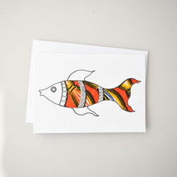 Fish Card - Kenyan materials and design for a fair trade boutique