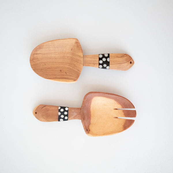 Olivewood & Bone Short Spoon Set - Kenyan materials and design for a fair trade boutique