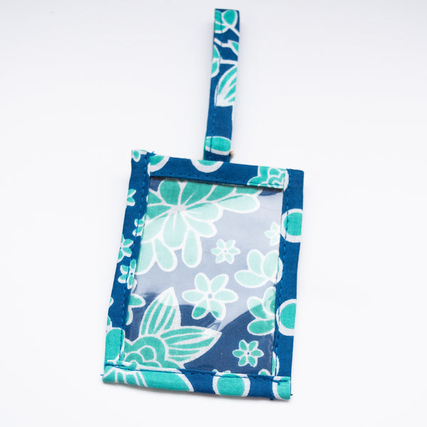 Kanga Luggage Tag - Kenyan materials and design for a fair trade boutique