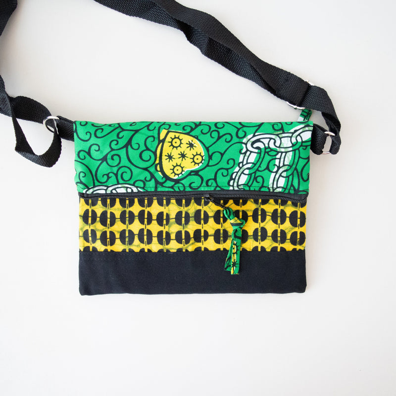 Kitenge Foldover Bag - Kenyan materials and design for a fair trade boutique