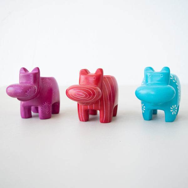 Hippo Tea Light - Kenyan materials and design for a fair trade boutique